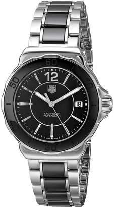 Tag Heuer Women's WAH1210BA0859 Formula One Black Dial Watch