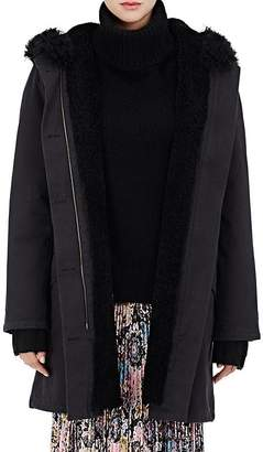 Army by Yves Salomon Women's Shearling-Lined Twill Parka