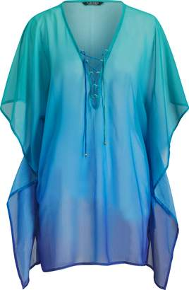 Ralph Lauren Chiffon Lace-Up Tunic