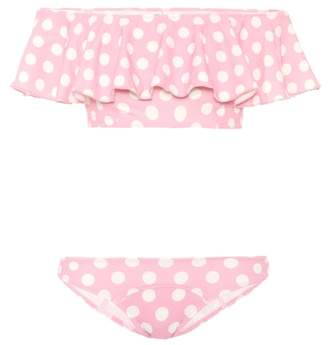 Lisa Marie Fernandez Mira polka-dot flounce bikini
