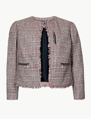 Marks and Spencer CURVE Textured Open Front Blazer