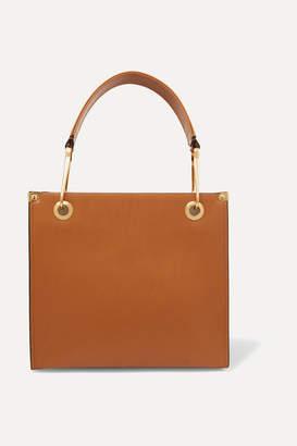 Marni Square Leather Tote - Brown