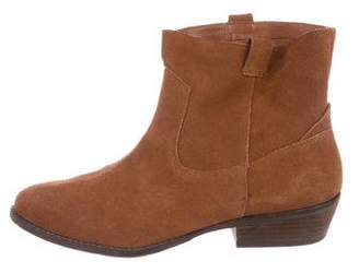Dolce Vita Suede Round-Toe Ankle Boots