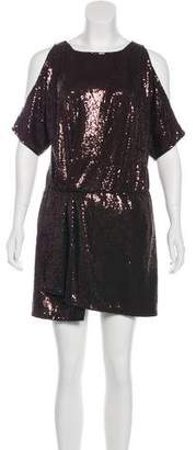 Jay Godfrey Cold-Shoulder Sequined Dress