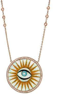 Jacquie Aiche Single Eye Opal Eye Necklace