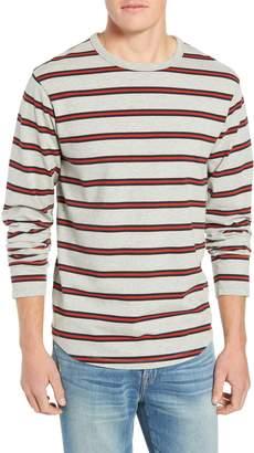 Frame Stripe Classic Long Sleeve Crewneck T-Shirt