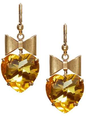 Tory Burch Bow & Heart Drop Earrings