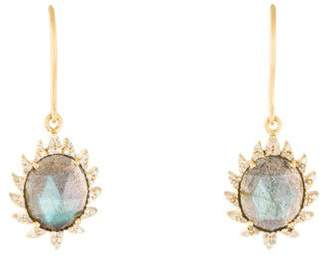 Meghna Jewels Vermeil Diamond & Labradorite Drop Earrings