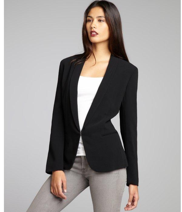 Rag and Bone Rag & Bone black woven tuxedo-style blazer