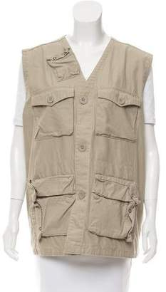 Schott NYC Mesh-Accented Cargo Vest w/ Tags