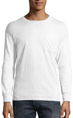 Hanes Long Sleeve Crew Neck T-Shirt
