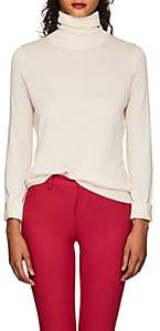 Barneys New York WOMEN'S SILK-CASHMERE TURTLENECK SWEATER - CREAM SIZE M