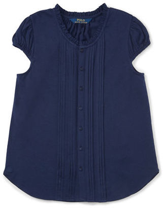 Ralph Lauren Childrenswear Girls 7-16 Little Girl's & Girl's Pintuck Top $35 thestylecure.com