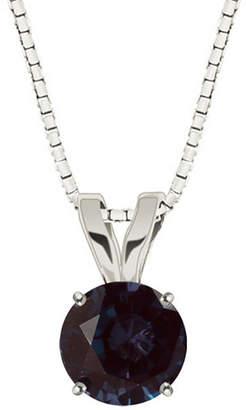 FINE JEWELRY Lab-Created Alexandrite 10K White Gold Pendant Necklace