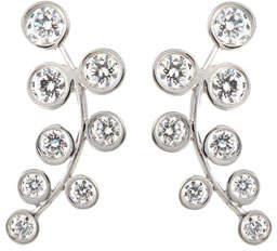 Rina Limor Fine Jewelry 18k White Gold & Diamond Climber Earrings
