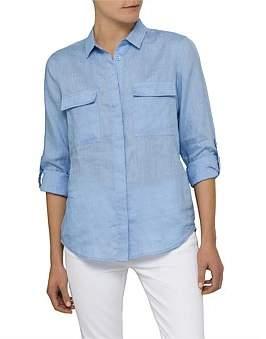 David Jones Long Sleeve Linen Shirt