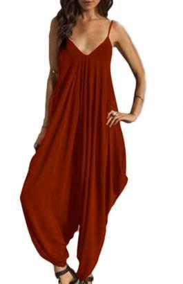 ac91746110 Fanvans Women Casua Strapagenook Romper Baggy Harem Jumpsuit Paysuit Darkbue