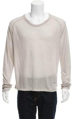 Alexander Wang Long-Sleeve Scoop-Neck T-Shirt