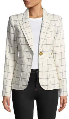 Smythe Duchess One-Button Blazer with Leather Elbow Patches