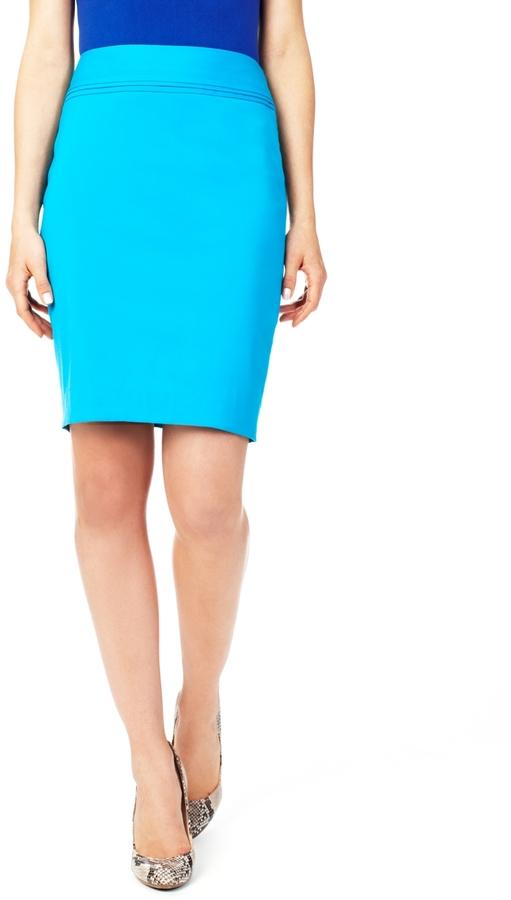The Limited Pleat-Waist Pencil Skirt