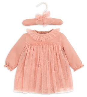 Elegant Baby Girls' Sparkle Tulle Bodysuit Dress - Baby