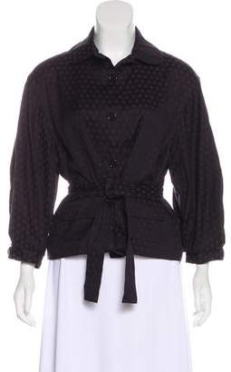 BCBGMAXAZRIA Dotted Peter Pan Collar Jacket