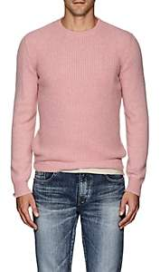 Eidos Men's Waffle-Knit Cashmere Sweater - Pink