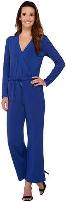 Halston H By H by Regular Jet Set Jersey Wide Leg Jumpsuit