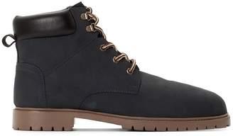 8109264769366 Mens Navy Blue Leather Shoes - ShopStyle UK