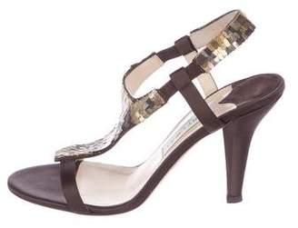 Jimmy Choo Embellished Satin Sandals