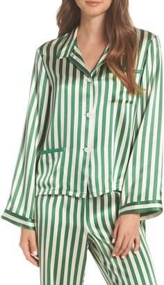 Morgan Lane Ruthie Silk Stripe Pajama Top