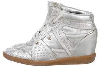 Isabel Marant Bobby Wedge Sneakers Silver Bobby Wedge Sneakers