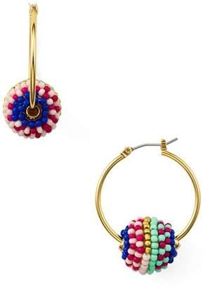 Rebecca Minkoff Beaded Hoop Earrings
