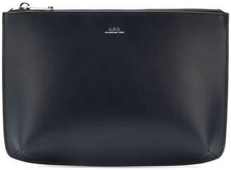 A.P.C. zipped clutch bag