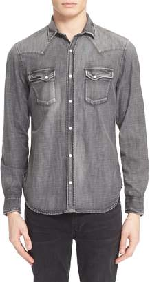 The Kooples Trim Fit Denim Western Shirt