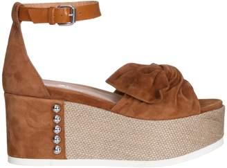 Janet & Janet Mango-papaya Suede Sandals