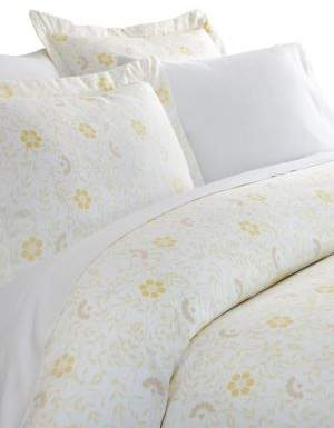 Blissful Bedding Spring Vines Three-Piece Duvet Cover Set
