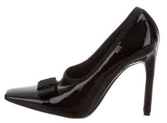 Balenciaga Patent Leather Bow Pumps