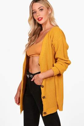 boohoo Button Up Fisherman Cardigan
