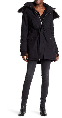 Zadig & Voltaire Karina Faux Fur Hooded Parka $700 thestylecure.com