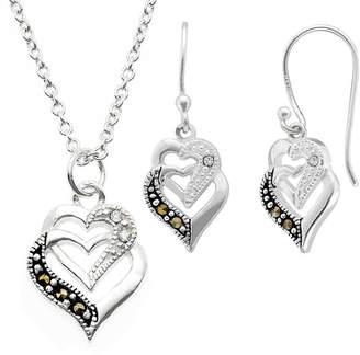 SPARKLE ALLURE Sparkle Allure 2-pc. Multi Color Pure Silver Over Brass Heart Jewelry Set