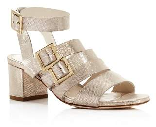 Bettye Muller Women's Tingle Chunky Heel Metallic Sandals