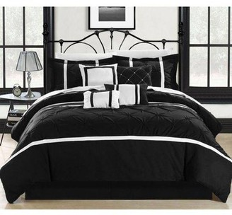 Chic Home Veronica 12-Piece Embroidered Bed in a Bag Comforter Set