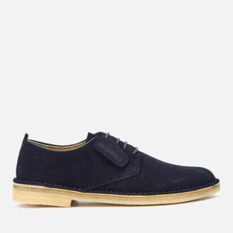 Clarks Men s Desert London Suede Derby Shoes - Midnight 60ad9a01d45
