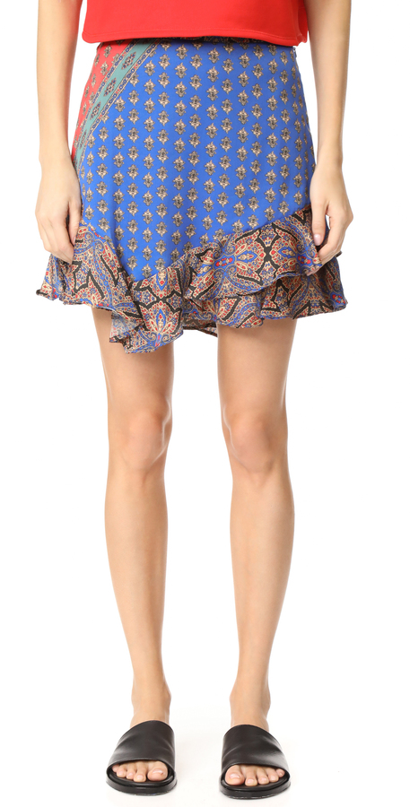 Free People Dance this Way Printed Skirt