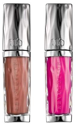 Urban Decay Revolution Lipgloss Double Shot Travel-Size Duo - Liar/Anarchy(bright fuchsia)
