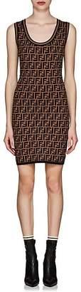Fendi Women's Logo Knit Body-Con Dress - Brown
