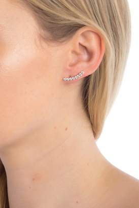 Nadri Salmone CZ Ear Crawler Earrings