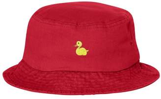 a419f3f46e2 Go All Out Adult Yellow Duck Embroidered Bucket Cap Dad Hat