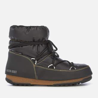 Moon Boot Women's Low Nylon Waterproof Boots - Black/Bronze